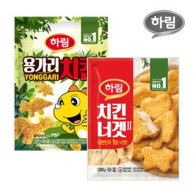 하림 용가리치킨 1kg 1봉 + 치킨너겟 1kg 1봉