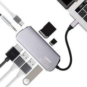 OMT C타입 USB3.0 USB허브 OUH-8IN1 HDMI AUX PD 충전