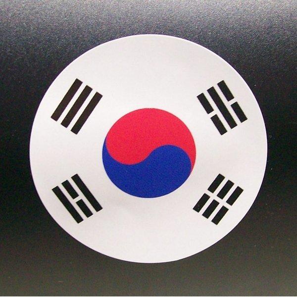 원 태극기 스티커-해외 여행 캐리어 가방 골프백 집회 상품이미지
