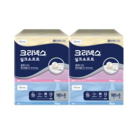 크리넥스 실크소프트 180매X6입 X 2팩/곽티슈
