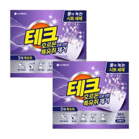 테크 특유취 시트세제 라벤더 30매 2팩
