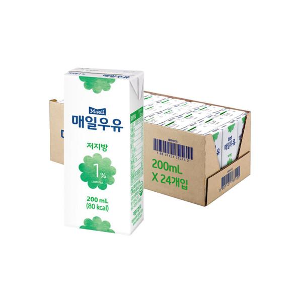 매일 멸균우유 저지방 1프로 200ML 24팩 상품이미지