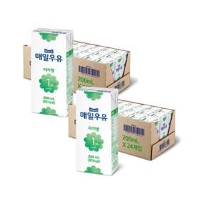 매일 멸균우유 저지방 1프로 200ML 48팩