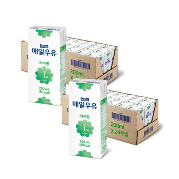 매일 멸균우유 저지방 1프로 200ML 48팩 상품이미지