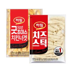 하림 굿초이스 치킨너겟 1kg+치즈스틱 1kg 굿초이스