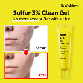 By WISHTREND/ Sulfur 3% Clean Gel/ Acne Treatment