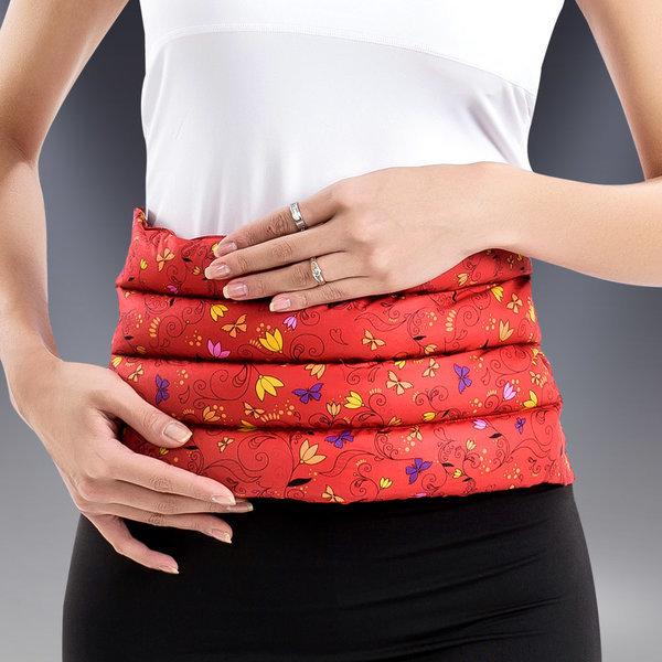 허브 허리복부 배 찜질팩 고급형 레드 상품이미지