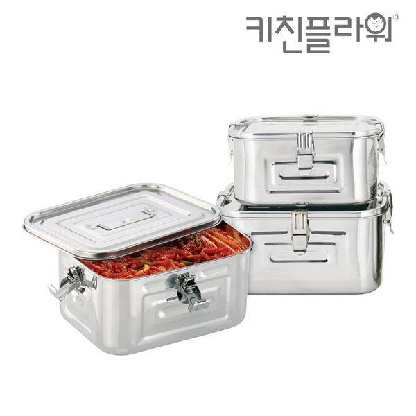 스텐 사각 김치통 보관통 밀폐용기 저장용기 김장용품 상품이미지