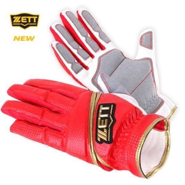 제트 ZETT BGK470 (흰/빨)주루장갑 야구장갑 상품이미지