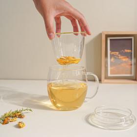 인블룸 1+1세트 내열 차거름망 머그컵(뚜껑포함)