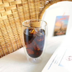 인블룸 1+1세트 이중유리컵(450ml)