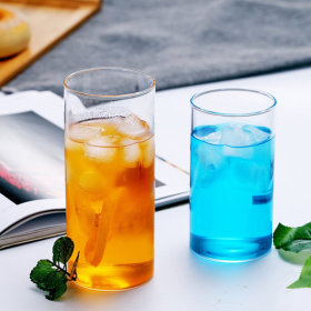 인블룸 1+1세트 북유럽스타일 투명 유리 원형컵 450ml