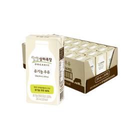 상하목장 유기농 멸균우유 200ML 24팩