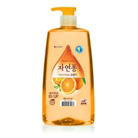 자연퐁 주방세제 오렌지 용기 980mL 2개 +지퍼백증정