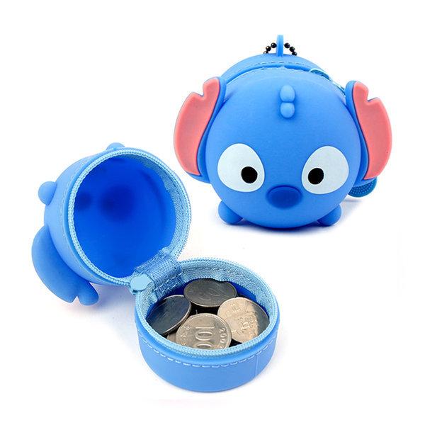 스티치 실리콘 동전파우치 디즈니 캐릭터 동전지갑 상품이미지