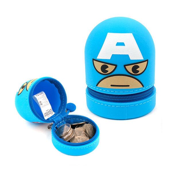 캡틴 실리콘 동전파우치 디즈니 캐릭터 동전지갑 상품이미지