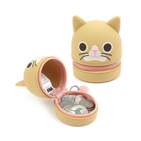 냥이 실리콘 동전파우치 디즈니 캐릭터 동전지갑 상품이미지