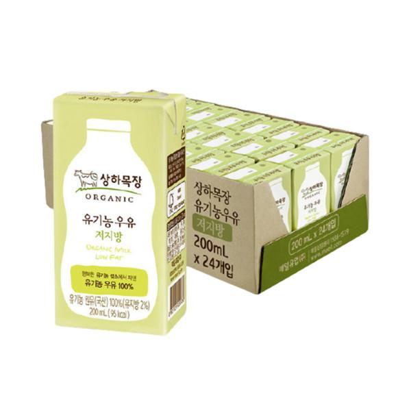 상하목장 유기농 저지방 멸균우유 200ML 24팩 상품이미지