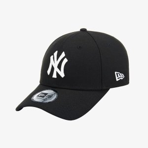 [뉴에라]갤러리아 공용 뉴에라 940 MLB 뉴욕 양키스 베이직 화이트 온 블랙 볼캡 블