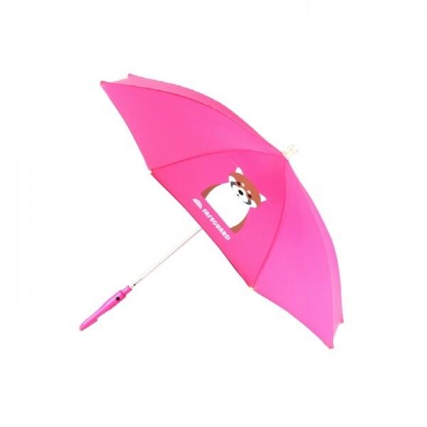 SAFEGUARD  세이프가드 아동 LED 우산 너구리 분홍색 상품이미지