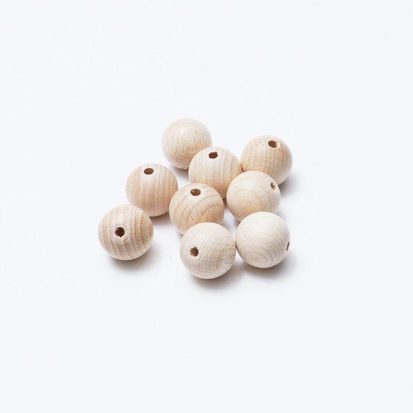 우든볼(구멍)/나무구슬/나무볼/우든공/나무공 상품이미지