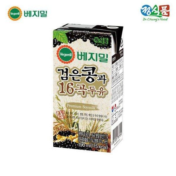 갤러리아  베지밀 검은콩과 16곡 두유 190mlx32팩 상품이미지