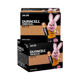 듀라셀 알카라인 건전지 AA 20개입 x 2개 + 사은품