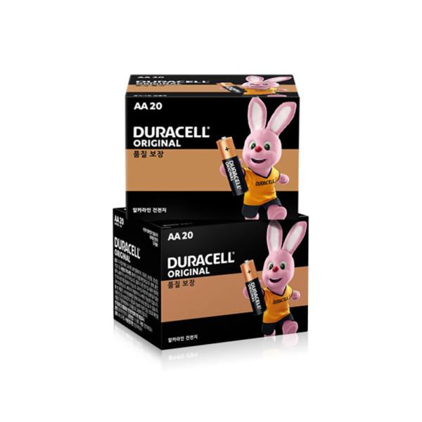 듀라셀 알카라인 건전지 AA 20개입 x 2개 상품이미지