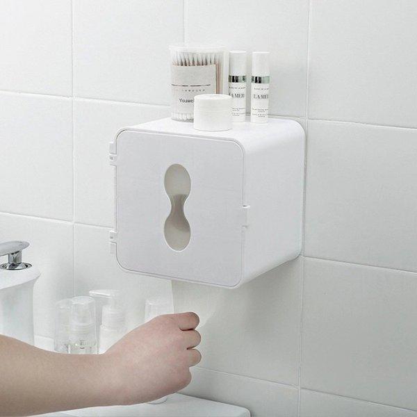 욕실 방수 화장실 선반 접착식 휴지걸이 케이스 상품이미지