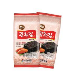 광천김 밥도둑 명란맛김 도시락김4g 36봉