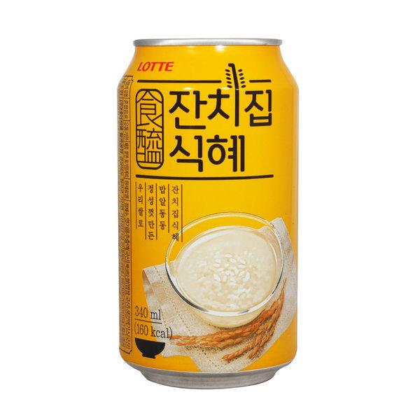 롯데 잔치집식혜 340ml x 1캔 / 식혜캔 캔음료 상품이미지