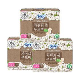 유기농순면 무표백 생리대 중형 18Px3팩+유2P+슈롱2P