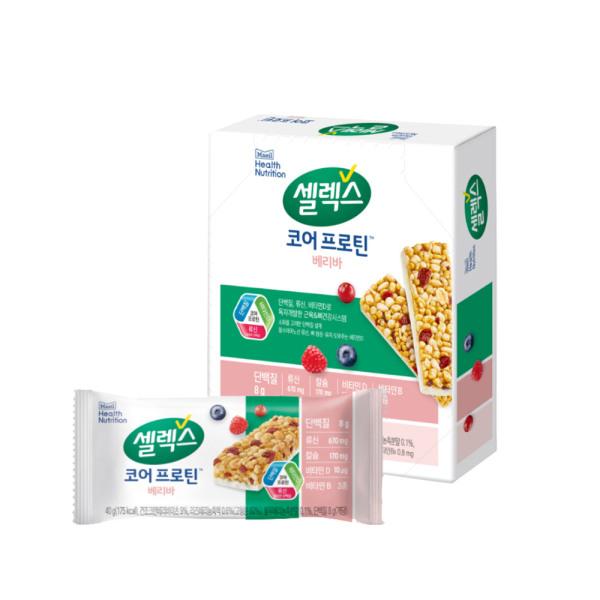 셀렉스 밀크 프로틴바 베리맛 30g 8개/단백질 상품이미지