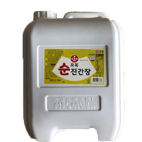 오복식품 순 진간장 13L /무료배송/말통 상품이미지