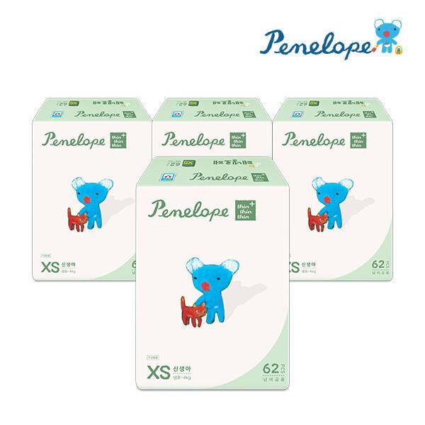 페넬로페 씬씬씬 플러스 밴드기저귀 신생아 62매x4팩 (공용) 상품이미지