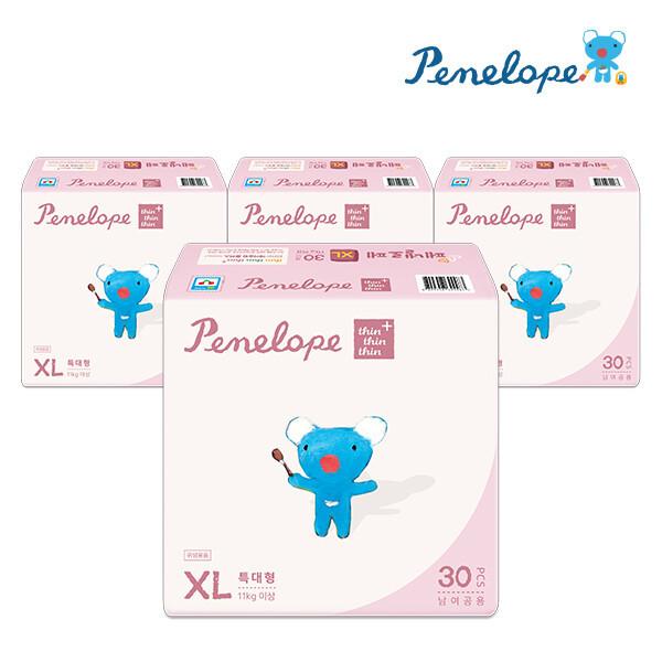 페넬로페  씬씬씬 플러스 밴드기저귀 특대형 30매x4팩 (공용) 상품이미지