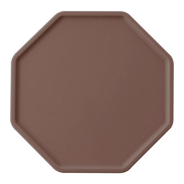 실리콘 폴리곤 컵받침 11cm 브라운 주방용품 잡화 상품이미지
