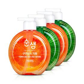 주방세제 순샘 구연산/베이킹소다 500mlx4개(2종)