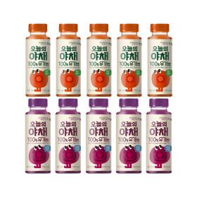 오늘의야채 유기농 사과당근 포도비트 200ml 5+5개입