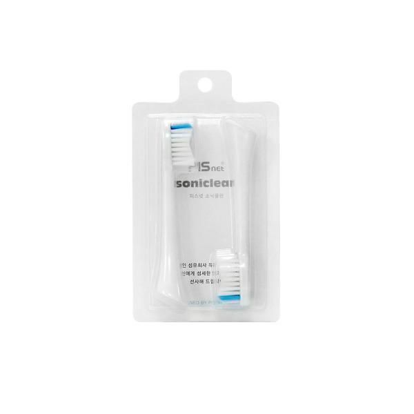 전동칫솔 피스넷 소닉클린 전용 칫솔모 2개입 / 화이트 상품이미지