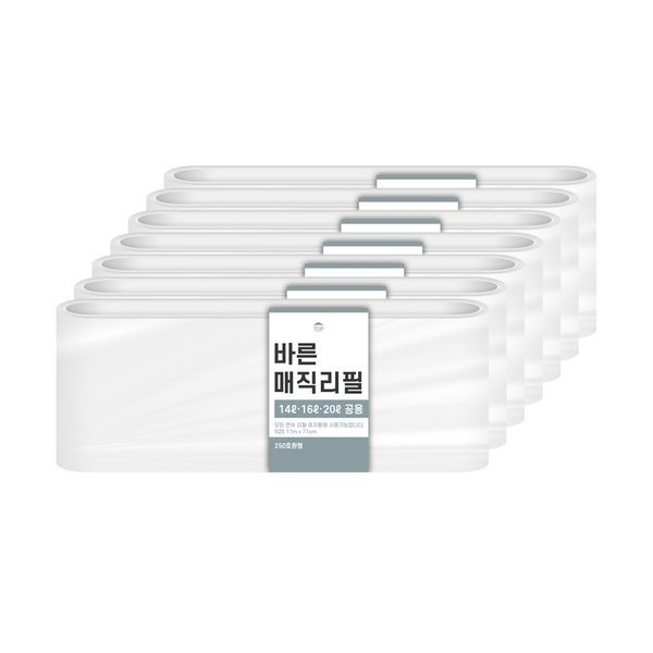 바른 바른 매직리필 14L 16L 20L(250)용 연속비닐(매직캔 호환) 7개 상품이미지