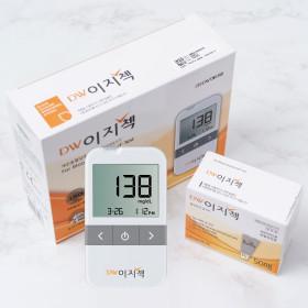 DW이지첵 혈당계+혈당시험지50매+침110+솜100/측정기