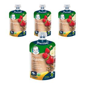 오가닉 파우치 바나나딸기라즈베리믹스 3+1(총 4개)