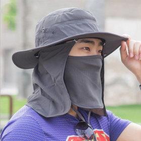 자외선 차단 사파리 여름모자 햇빛가리개 마스크 일체