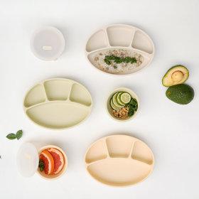 BluemamaSilicone Suction Plate+Suction Bowl 2-item Set NEW Color(MODUI)