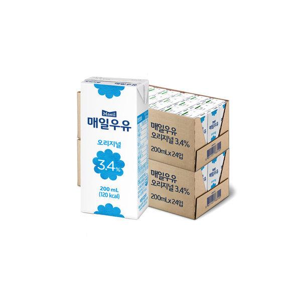 매일 멸균우유 오리지널 200ML 48팩 무배 상품이미지