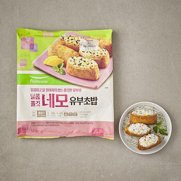 풀무원 달콤쫄깃 네모 유부초밥 330g(4 상품이미지