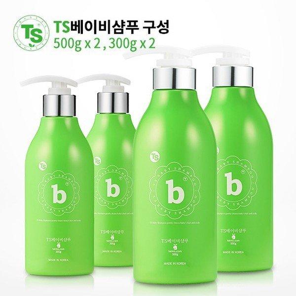 TS  대한민국 대표 샴푸 베이비샴푸 500gX2개 300gX2개 상품이미지