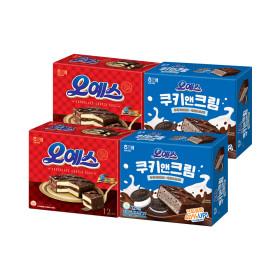 오예스 쿠키앤크림 2팩 + 오예스 오리지날 2팩