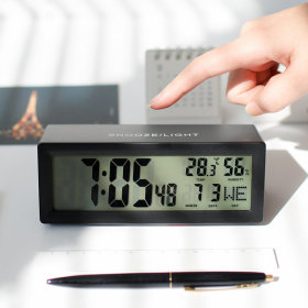 캘린더 탁상시계 날짜 온도 습도 달력 블랙